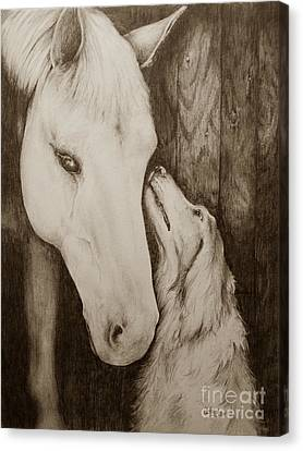 Friends In Sepia Canvas Print