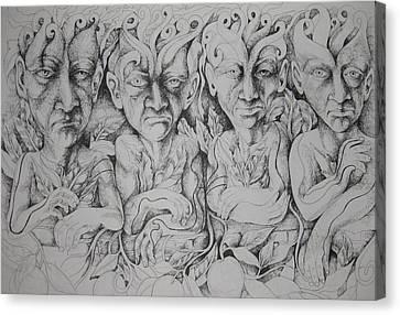 Friends Canvas Print by Moshfegh Rakhsha