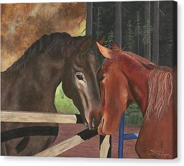 Friends Canvas Print by Sandy Jasper