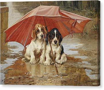Friends Canvas Print by William Henry Hamilton Trood