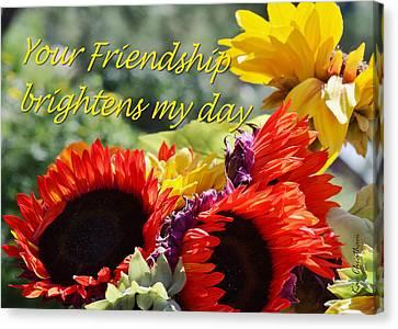 Friendship Flowers Canvas Print