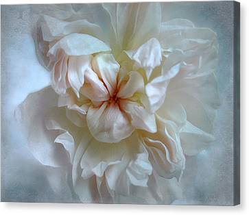 Friendship Is The Breathing Rose Canvas Print by Louise Kumpf