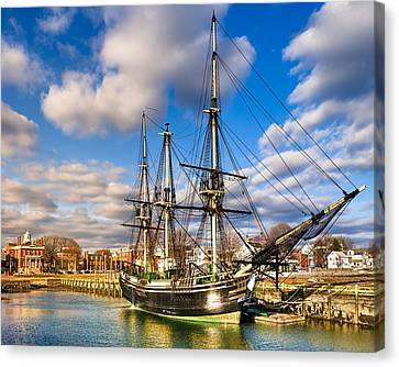 Friendship Of Salem At Harbor Canvas Print by Mark E Tisdale