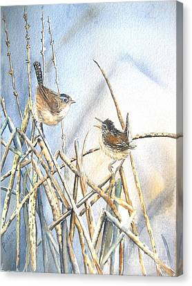 Wren Canvas Print - Friendship by Patricia Pushaw