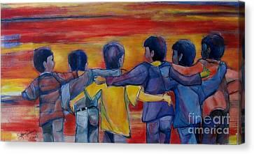 Friendship Walk - Children Canvas Print
