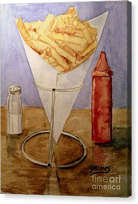 Fries For Lunch Canvas Print by Carol Grimes