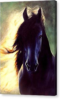 Friesian Glow Canvas Print