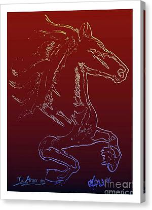 Friesian Sketch 1 Canvas Print by Mark Ansier