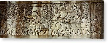 Frieze, Angkor Wat, Cambodia Canvas Print by Panoramic Images