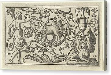 Frieze With Lion, Anonymous Canvas Print by Anonymous