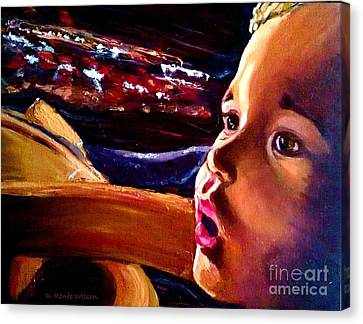 Canvas Print featuring the painting Fright Of Dumbo by D Renee Wilson
