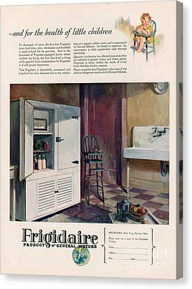 Frigidaire 1926 1920s Usa Cc Fridges Canvas Print by The Advertising Archives