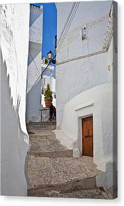 Spanish House Canvas Print - Frigiliana Street Scene, Costa Del Sol by Panoramic Images
