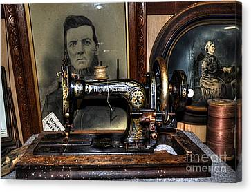 Frister And Rossmann - Old Sewing Machine Canvas Print by Kaye Menner