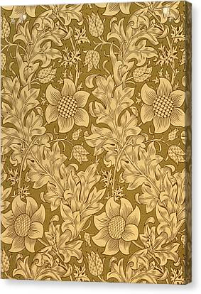 Fritillary Wallpaper Design Canvas Print by William Morris