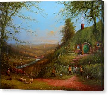 Frodo's Inheritance Bag End Canvas Print by Joe  Gilronan