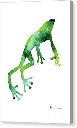 Frog Art Print Watercolor Painting Canvas Print by Joanna Szmerdt