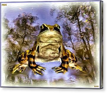 Canvas Print featuring the digital art Frog by Daniel Janda