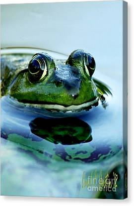 Green Frog I Only Have Eyes For You Canvas Print