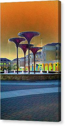 Frog Fountain Jazzed Canvas Print