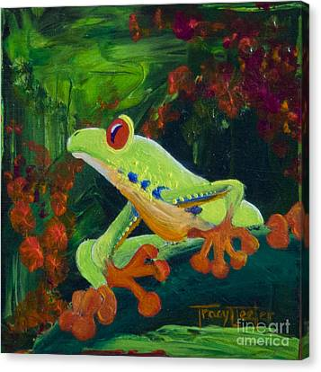Frog Heaven Canvas Print by Tracy L Teeter