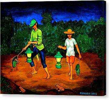 Frog Hunters Canvas Print