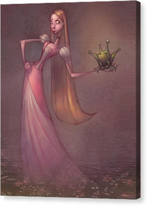 Fairytale Canvas Print - Frog Prince by Adam Ford