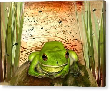 Froggy Heaven Canvas Print