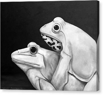 Froggy Style Edit 3 Canvas Print by Leah Saulnier The Painting Maniac
