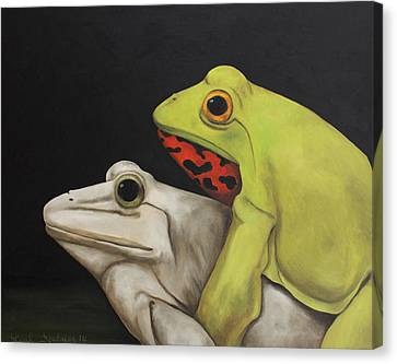 Froggy Style Canvas Print by Leah Saulnier The Painting Maniac