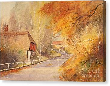 Canvas Print featuring the painting Frogholt Kent by Beatrice Cloake