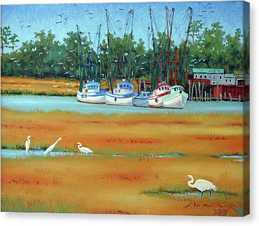 Frogmore Boats Canvas Print by Dwain Ray