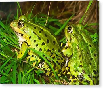 Frogs Decor Canvas Print