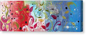 Canvas Print featuring the painting Frolic by Robin Maria Pedrero