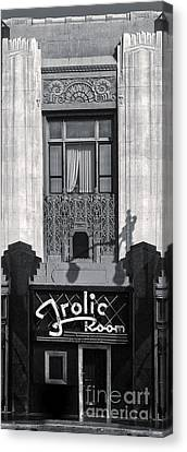 Frolic Room In Black And White Canvas Print by Gregory Dyer