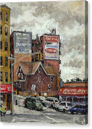 From 230th Street The Bronx Oil On Panel Canvas Print