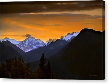 Canvas Print featuring the photograph From A Distance by Dyle   Warren