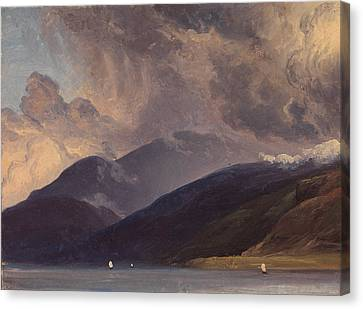 Fearnley Canvas Print - From Balestrand At The Sognefjord by Thomas Fearnley