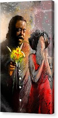 From Barry White With Love Canvas Print by Miki De Goodaboom