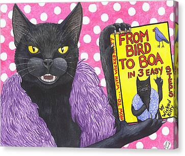 From Bird To Boa Canvas Print by Catherine G McElroy