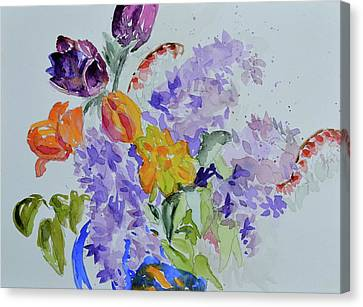 Canvas Print featuring the painting From Grammy's Garden by Beverley Harper Tinsley