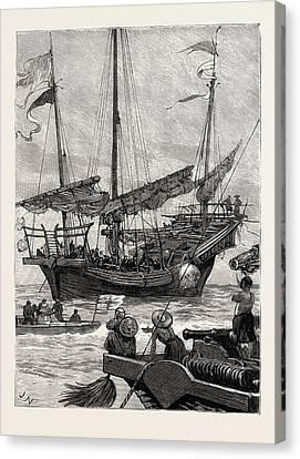 Hong Kong Canvas Print - From Hong Kong To Macao In A Torpedo Boat, Close Quarters by English School