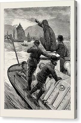 Hong Kong Canvas Print - From Hong Kong To Macao In A Torpedo Boat, The Start by English School