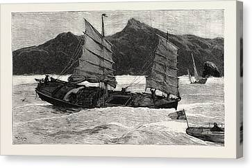 Hong Kong Canvas Print - From Hong Kong To Macao In A Torpedo Boat, We Leave by English School