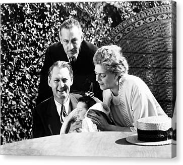 From Left, Lionel Barrymore, Holding Canvas Print
