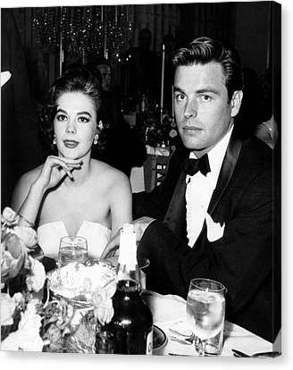 From Left, Natalie Wood, Robert Wagner Canvas Print