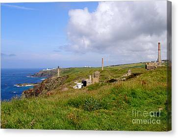 From Levant To Pendeen Cornwall Canvas Print by Terri Waters