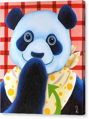 From Okin The Panda Illustration 11 Canvas Print by Hiroko Sakai