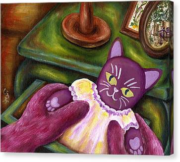 Canvas Print featuring the painting From Purple Cat Illustration 20 by Hiroko Sakai