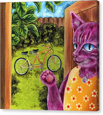 Canvas Print featuring the painting From Purple Cat Illustration 22 by Hiroko Sakai